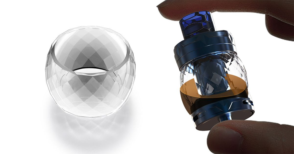 diamond cut crystal tube