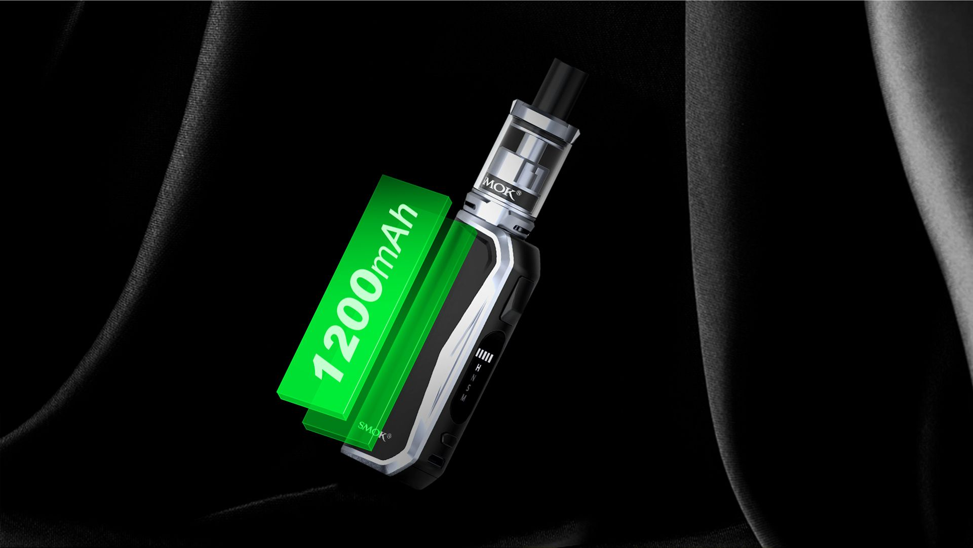 smok priv n19 kit device battery life 1100mah