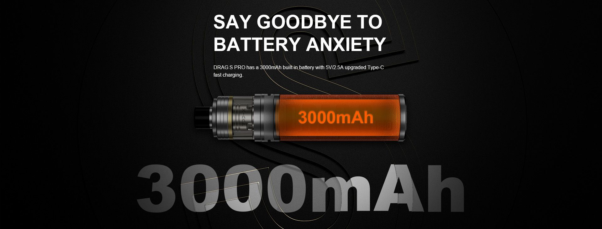 Voopoo Drag-S Pro Drag S Battery Capacity 3000mah