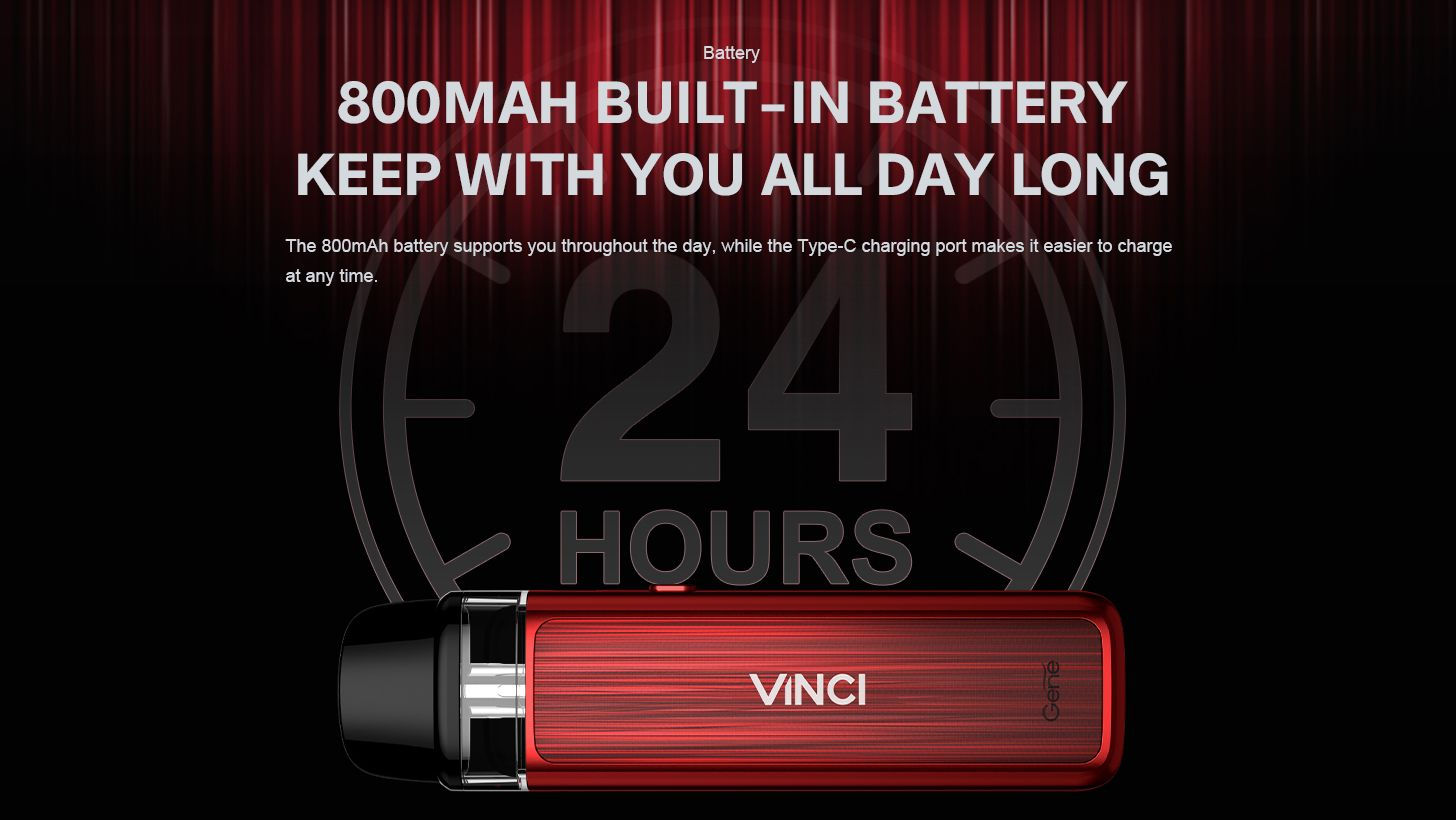 Voopoo Vinci Pod Kit Battery 800mah internal
