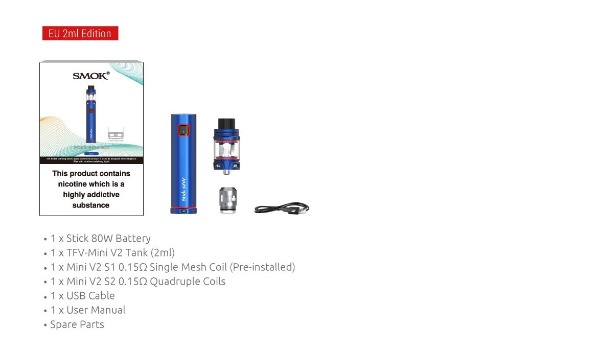 Smok Stick 80w Kit Whats In The Box