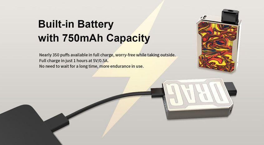 Voopoo-Drag-Nano-Pod-Device-battery-capacity-life