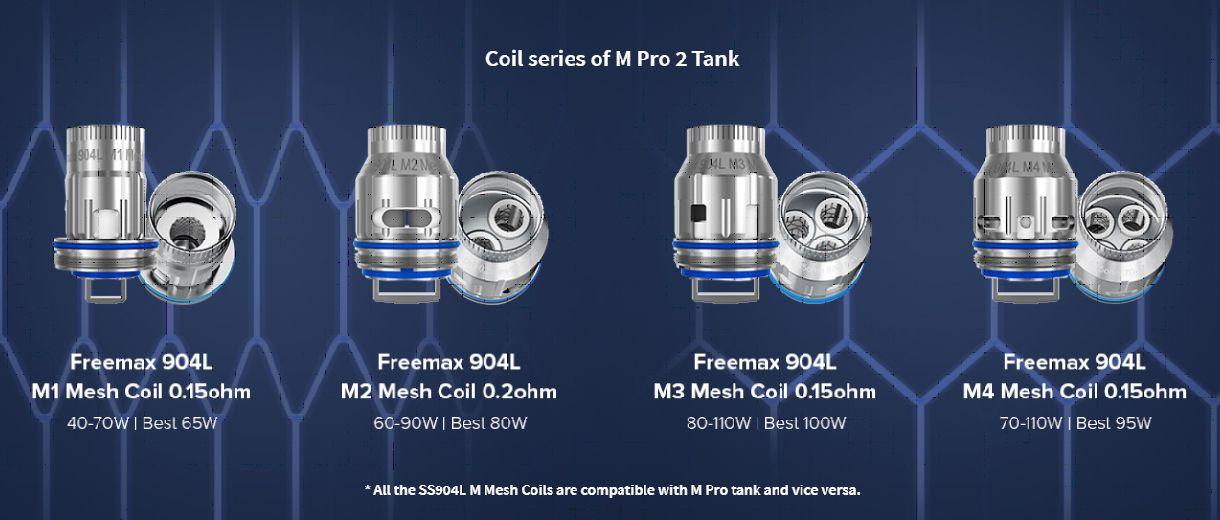 Freemax m pro 2 fm coiltech4.0 4.0 coil tech m1 m2 m3 m4 904l