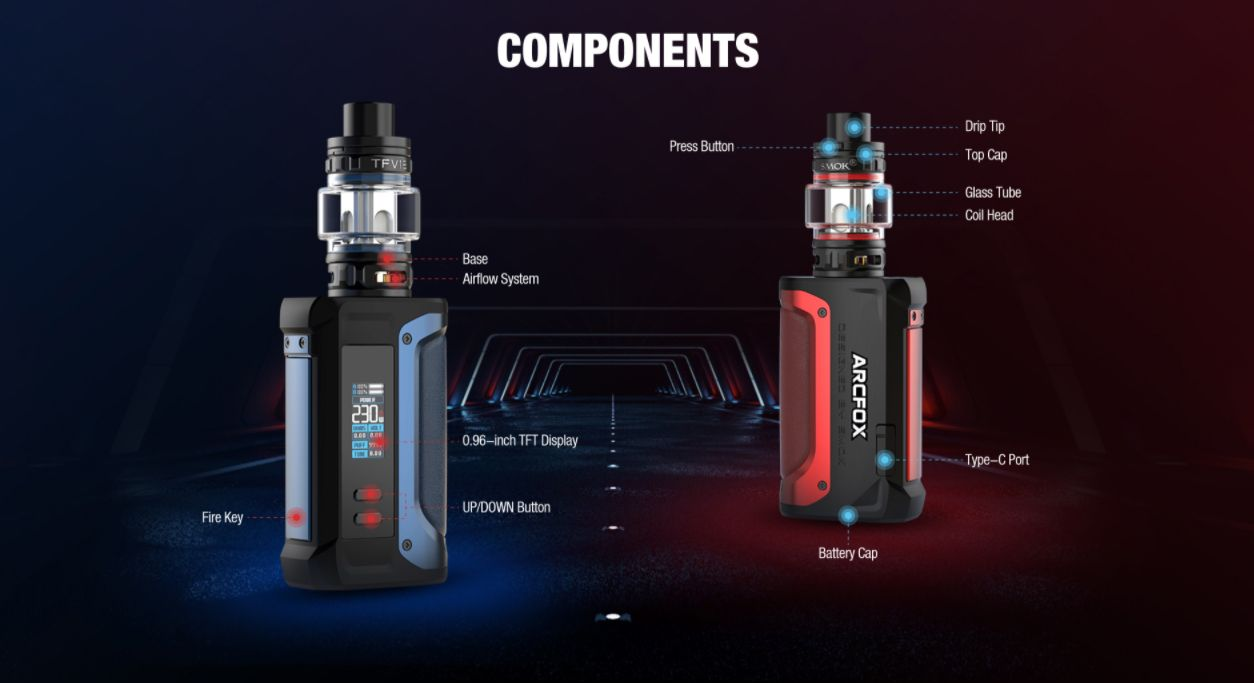Smok Arcfox Kit 230w components