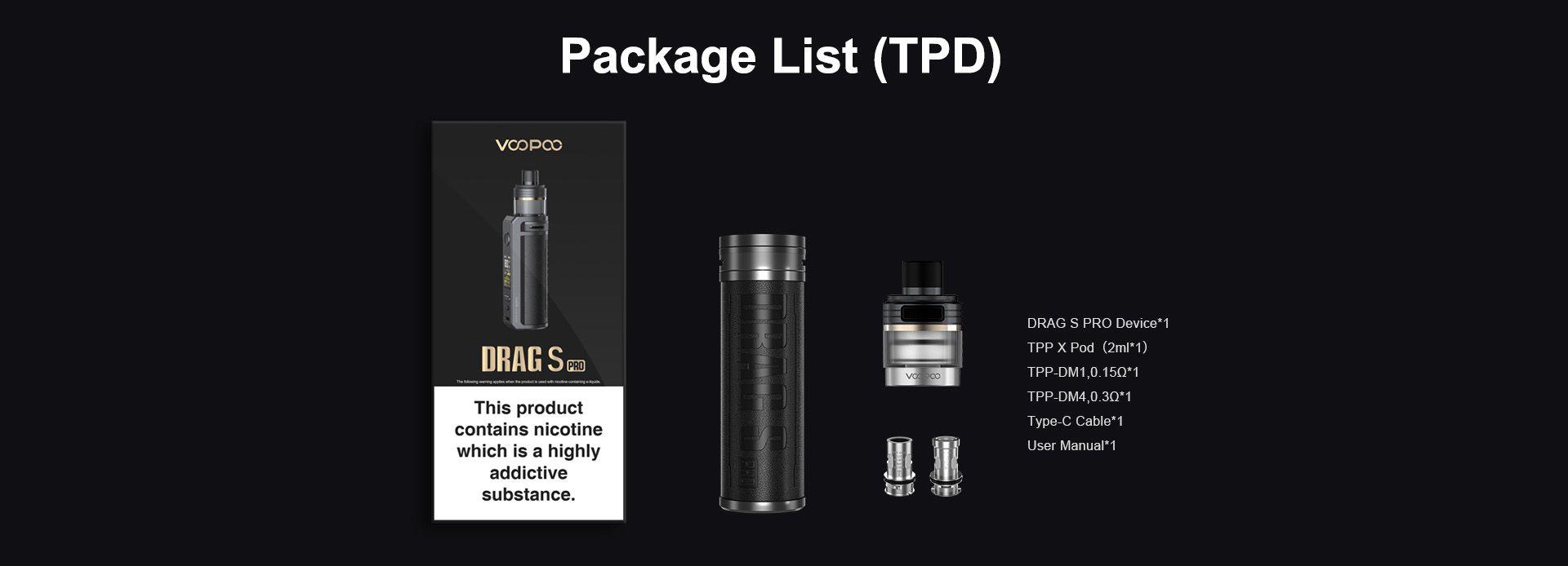 Voopoo Drag S Pro Box Contents