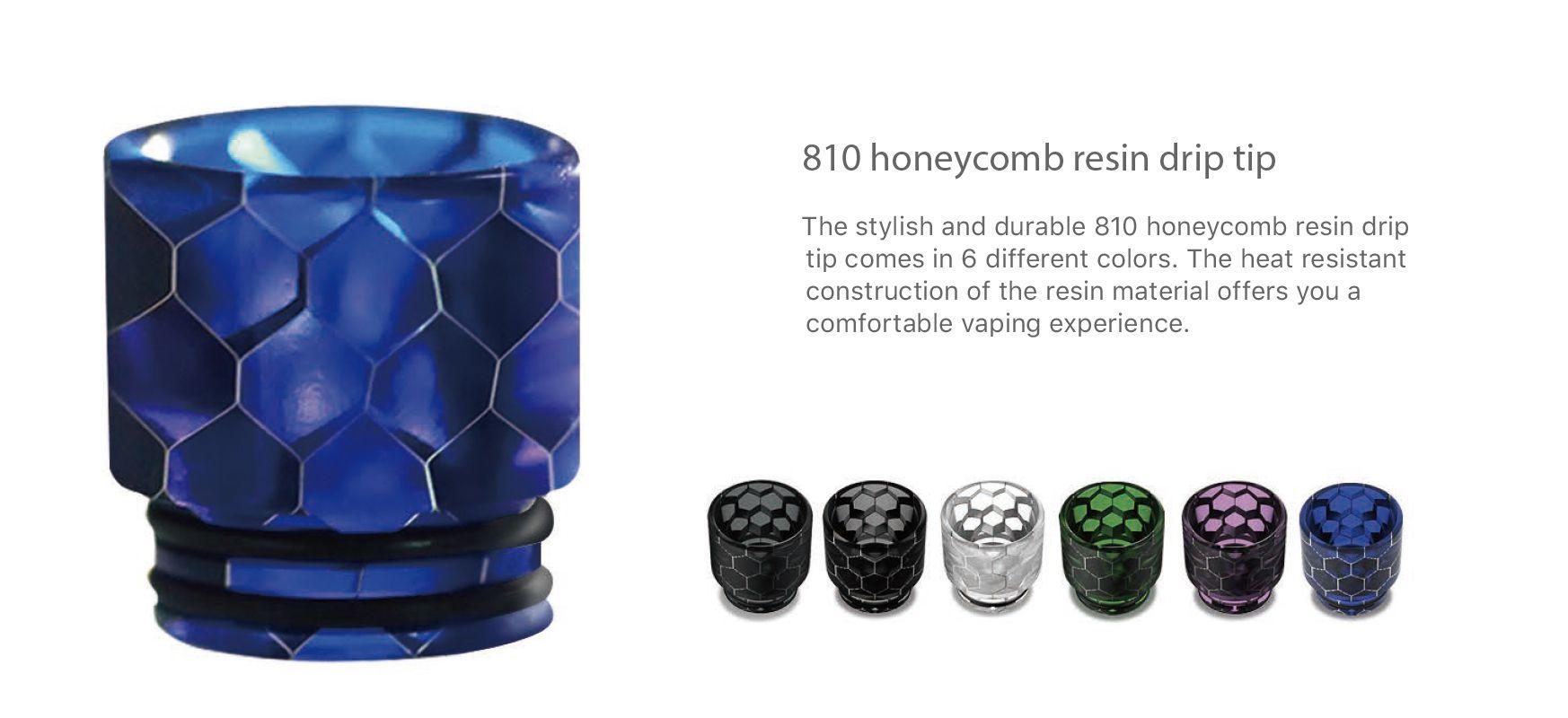 Aspire Odan tank honeycomb 810 drip tip