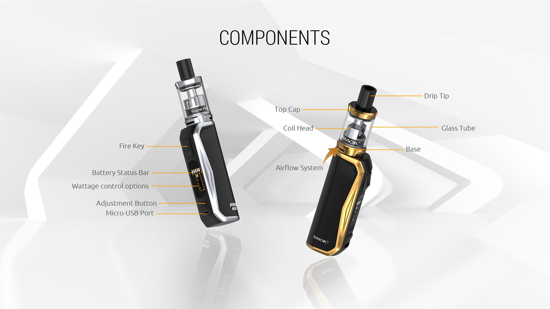 Smok Priv N19 Kit device parts rundown components