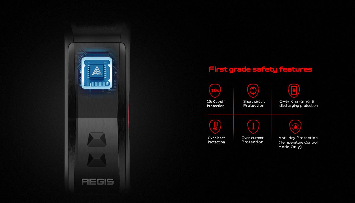 geekvape aegis x safety protections