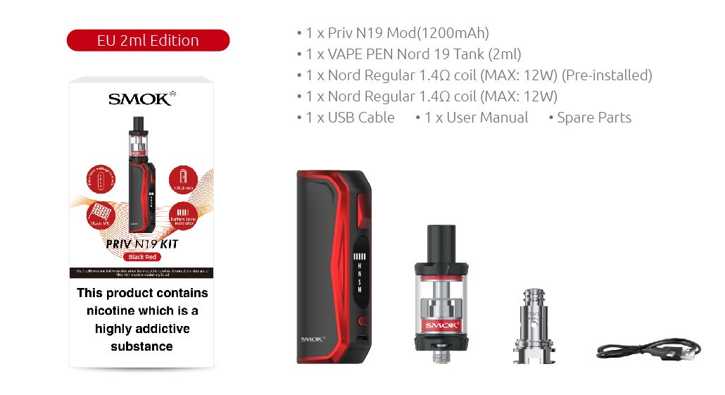 Smok Priv N19 whats in the box