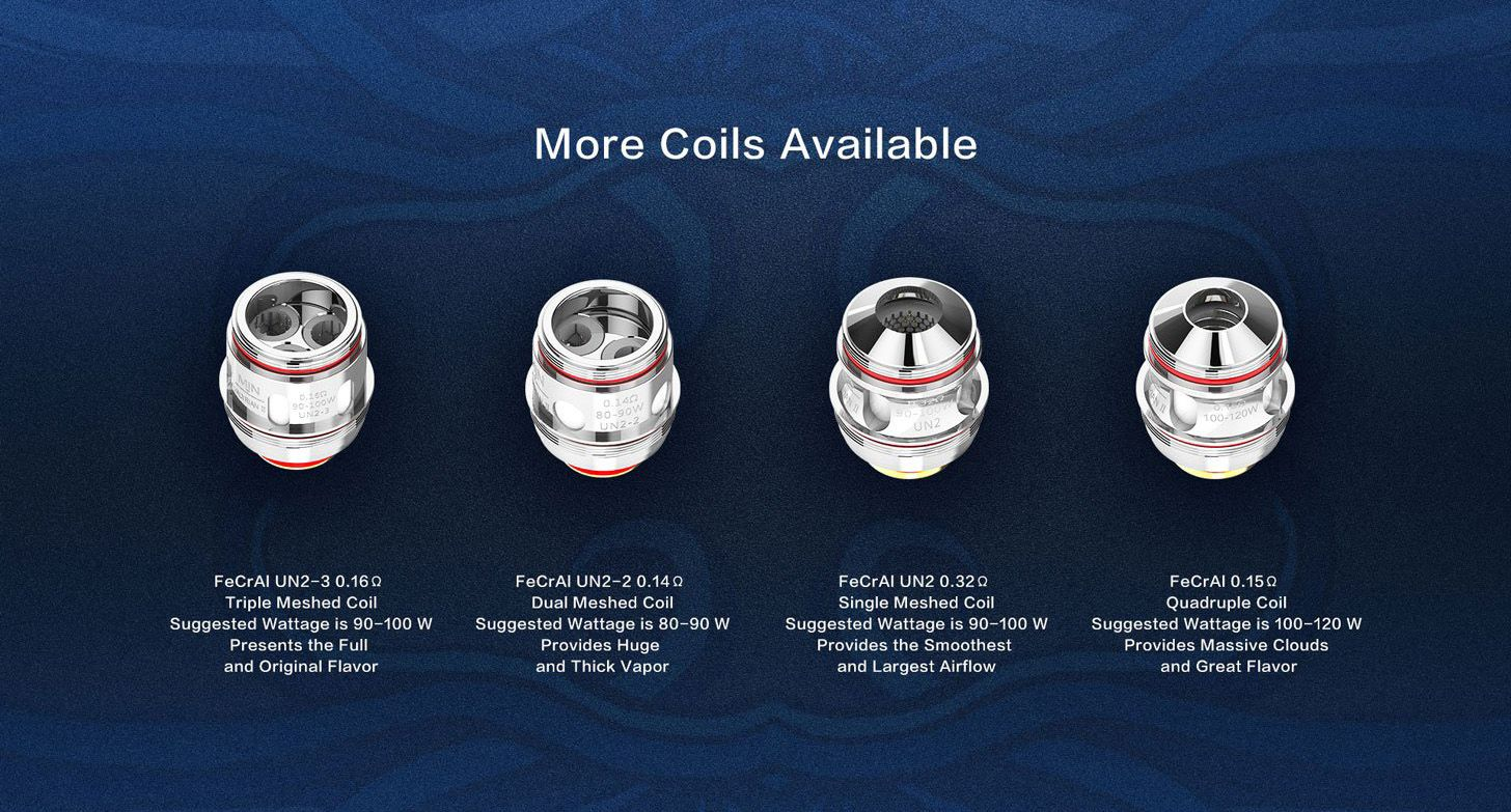 Uwell Valyrian II 2 Tank Coil Options