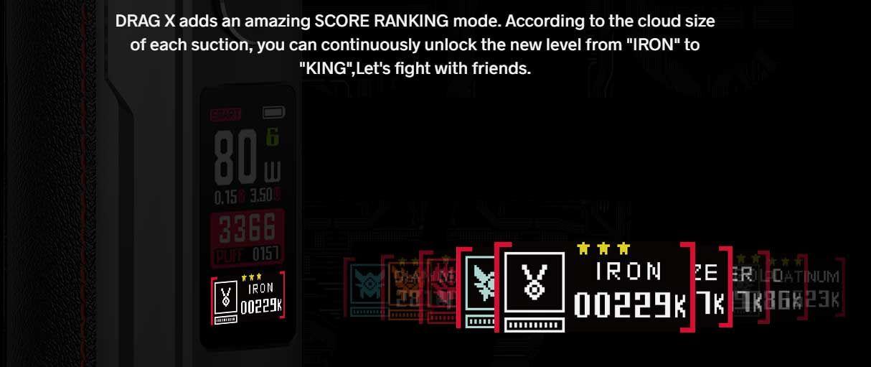 Voopoo Drag-x Drag x score mode