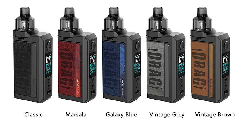 Voopoo Drag Max 5 Colours classic marsala galaxy blue vintage grey gray brown