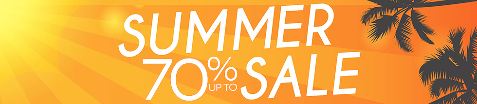 Up to 70% off - Summer Sale